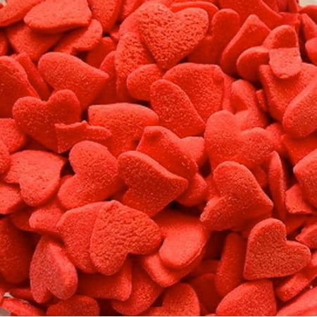Jumbo Red Hearts Edible Sprinkles - 2.6 oz - Heart Sprinkles