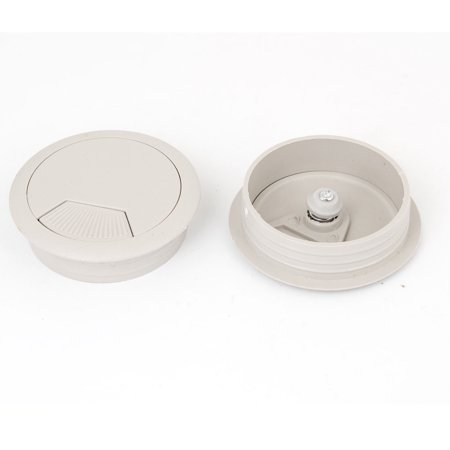 Buy 53mm Gray Plastic Desktop Computer Cable Cover Grommet Organizer Shell 2 Pcs Before Too Late