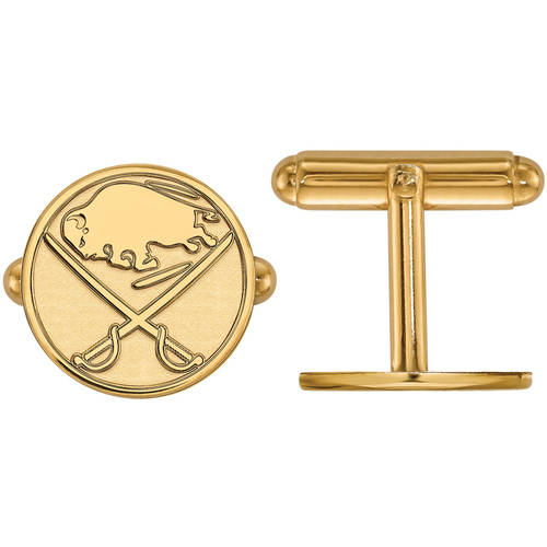 NHL Buffalo Sabres 14kt Gold-Plated Sterling Silver Cuff Links