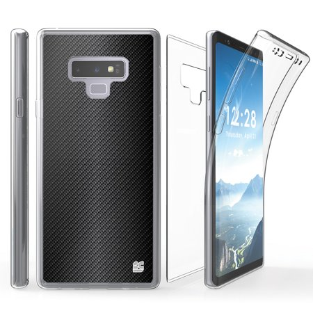 - Tri Max Samsung Galaxy Note 9 Case with Ultra Slim 360 Degree Full Body Protection Cover with Self-Healing Flexible Gel Clear Screen Protector and Atom Cloth for Samsung Galaxy Note 9 - Dark Carbon