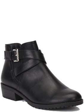 Time and Tru Low Strap Bootie (Women's)