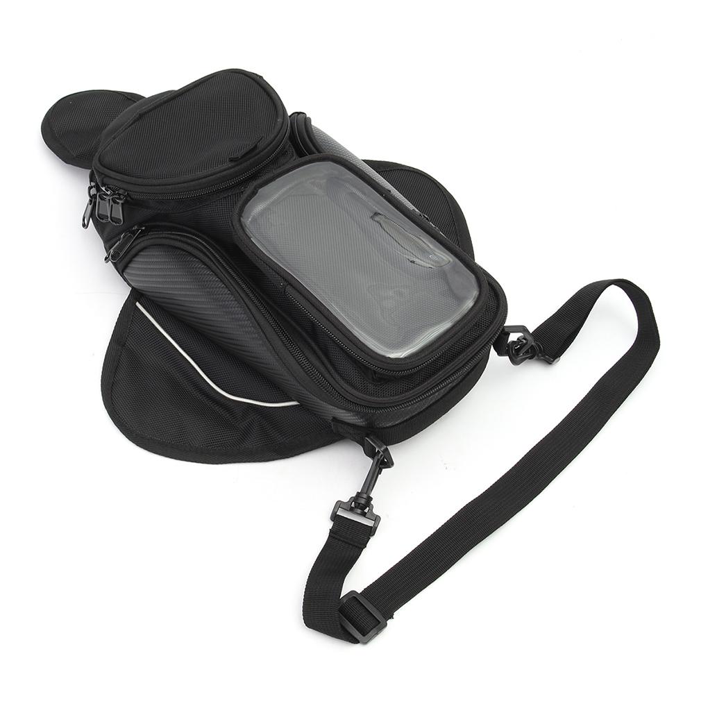 Waterproof Fuel Tank Bag Magnet Navigation Saddlebag Large Transparent Window Motorcycle Backpack Qiilu Motorcycle Engine Tank Bag