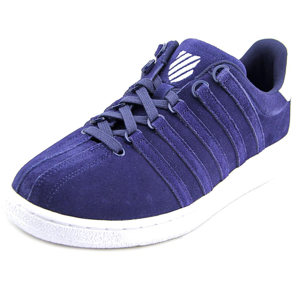K-Swiss Classic VN SDE Men Round Toe Suede Blue Sneakers by K-Swiss