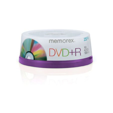 Memorex 16x Write-Once DVD+R Spindle - 25 Disc Spindle