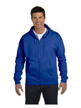 Hanes ComfortBlend; Eco Smart; Full Zip Hoodie, Color: Light Blue, Size: S --- PACK OF 2 (Men's Athleticwear - Original Company Packing)