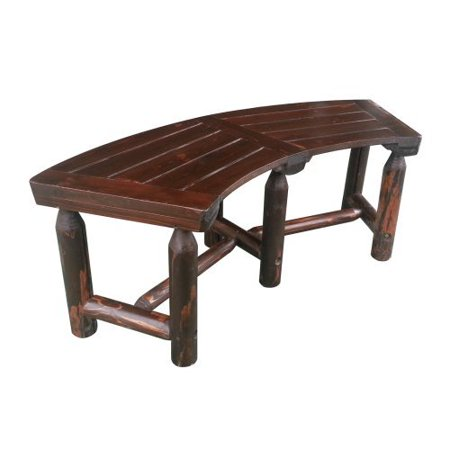 Leigh country char log curved garden bench for Braddock heights chaise lounge