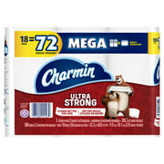 Charmin Ultra Strong Toilet Paper, 18 Mega Rolls = 72 Regular Rolls
