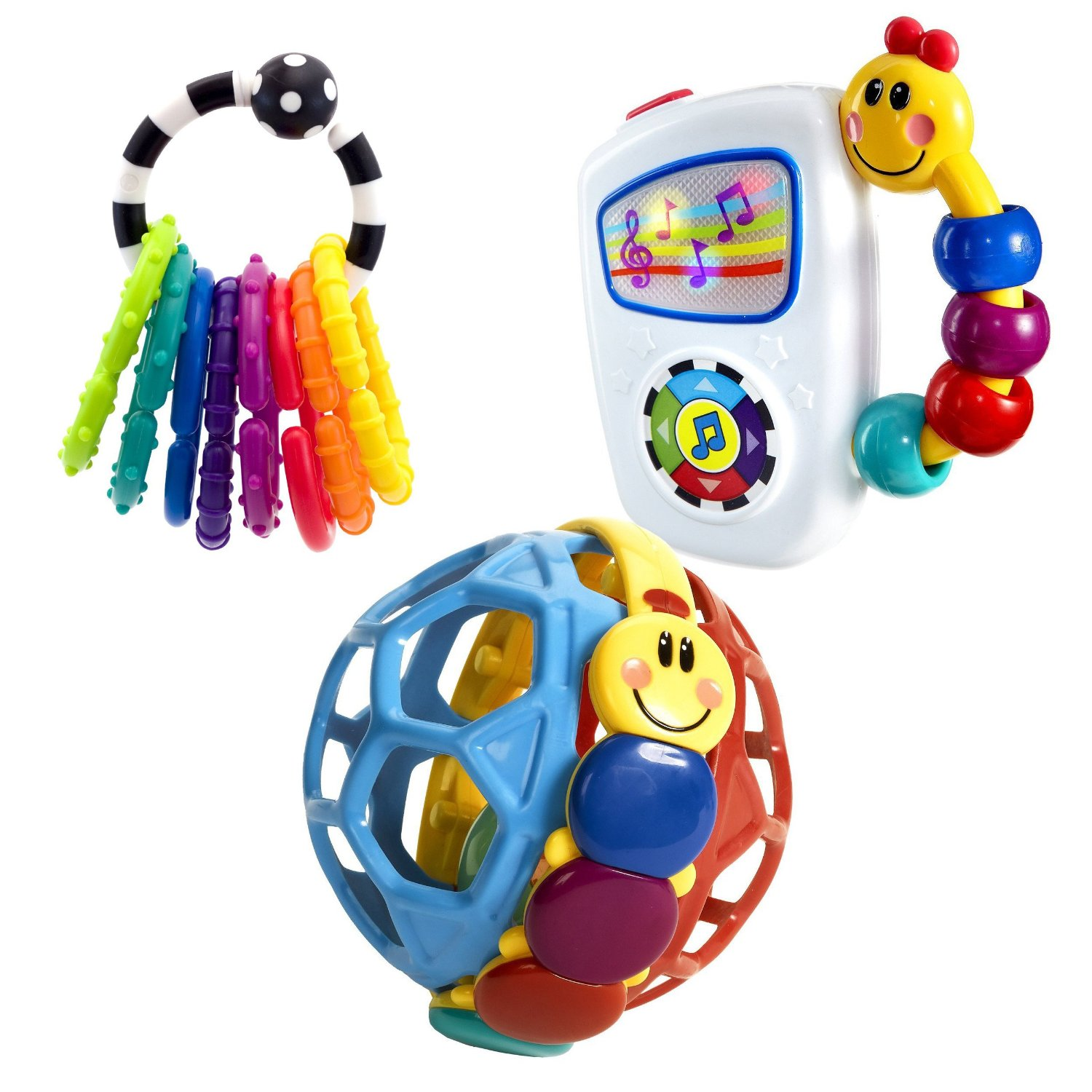 Sassy Ring O Links with Take Along Tunes Musical Toy and Bendy Ball Rattle by Sassy
