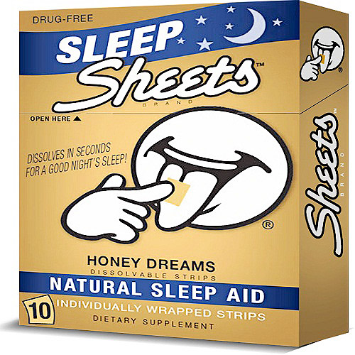 Sheets Honey Dreams Dissolvable Strips Natural Sleep Aid, 10 count