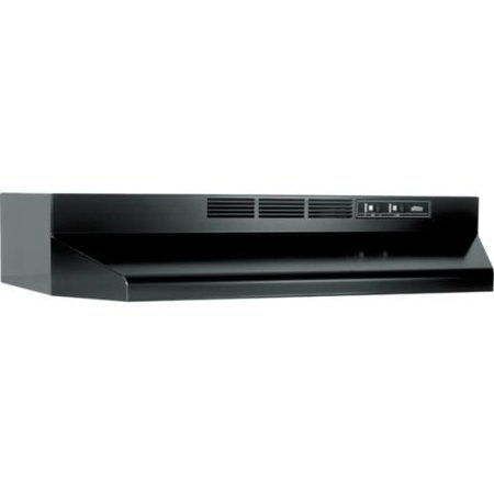 broan 30 blk range hood non vented. Black Bedroom Furniture Sets. Home Design Ideas
