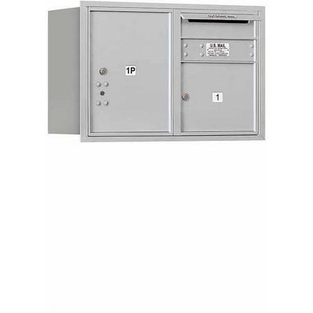 Double Rear Doors (Salsbury Industries 4C Horizontal Mailbox 5-Door High Unit (20