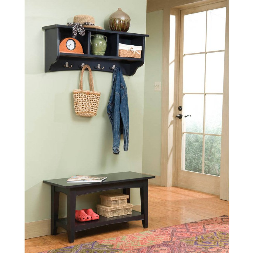 Alaterra Shaker Cottage Bench and Coat Rack Set