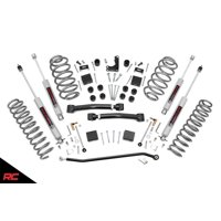"""Rough Country 4"""" Lift Kit compatible w 1999-2004 Jeep Grand Cherokee WJ 4WD X-series w N3 Shocks Suspension System 639P"""