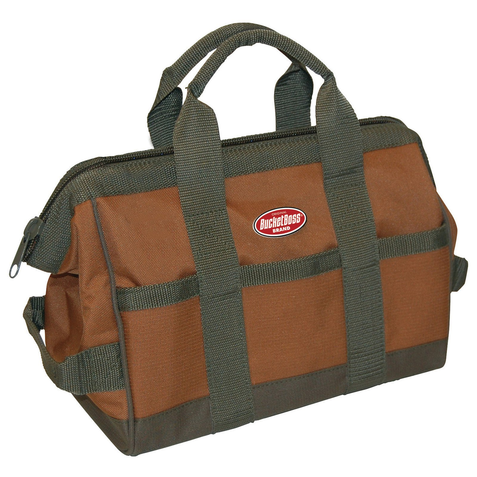 "Bucket Boss 60012 12"" X 7"" X 9"" Green & Brown Gatemouth Tool Bag by Pull'r Holdings Llc/bucketboss"