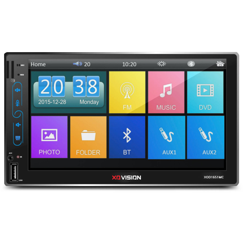 "XO Vision 7"" Touchscreen Multimedia Receiver, Black"