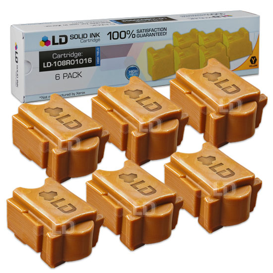 LD Xerox ColorQube 8900 Compatible Yellow (6 Pack) 108R01016 Solid Ink Cartridges