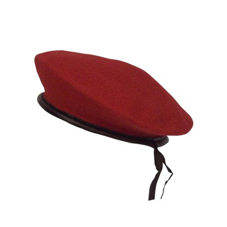 - Red Wool Beret, New Military Style Hat, Cap