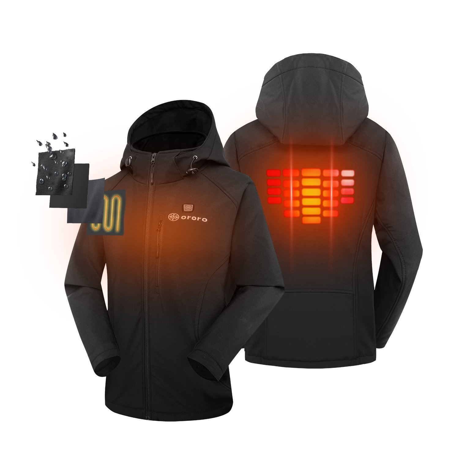 Womens Heated Clothing >> Ororo Women S Slim Fit Heated Jacket With Battery Pack And Detachable Hood