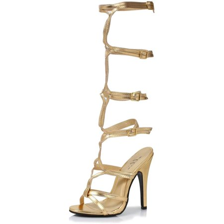 Sassy Gold Adult Shoes Halloween Costume Accessory for $<!---->
