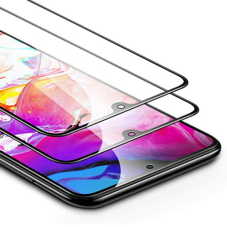 AMGRA 2-Pack Samsung Galaxy A70 Full Coverage Screen Protector Tempered Glass 2.5D Full-screen Edge Protection Splinter-proof Screen Protection