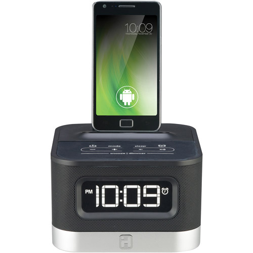 FM Stereo Alarm Clock Radio for Android Smartphones