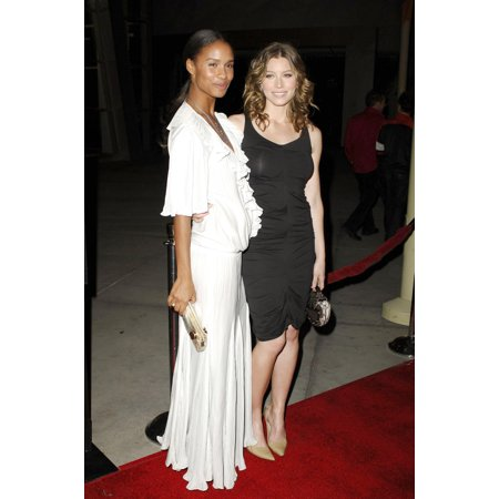 Joy Bryant Jessica Biel At Arrivals For London Premiere The Arclight Hollywood Cinema Los Angeles Ca Monday February 06 2006 Photo By Michael GermanaEverett Collection Celebrity - Hollywood 16 Cinema