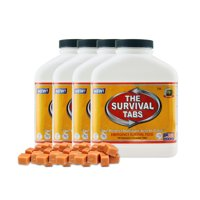 Survival Tabs 60 Day 720 Tabs Emergency Food Survival MREs Meal Replacement for Disaster Preparedness Gluten Free and Non-GMO 25 Years Shelf Life Long Term - Butterscotch Flavor