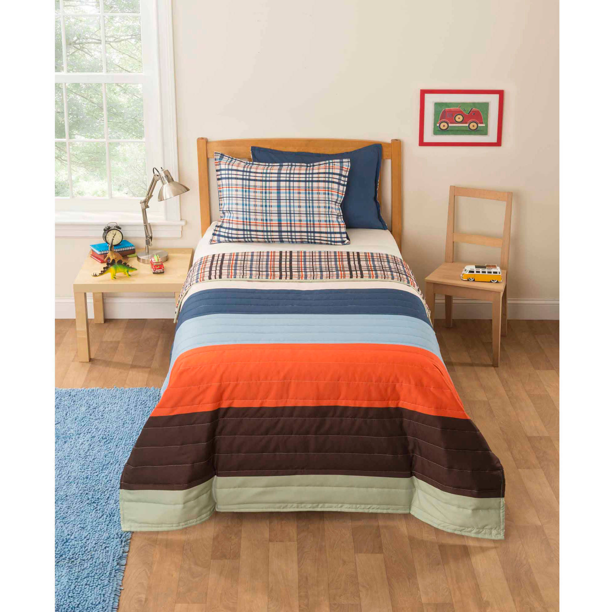 Mainstays Kids Rugby Rall Bedding Comforter Set