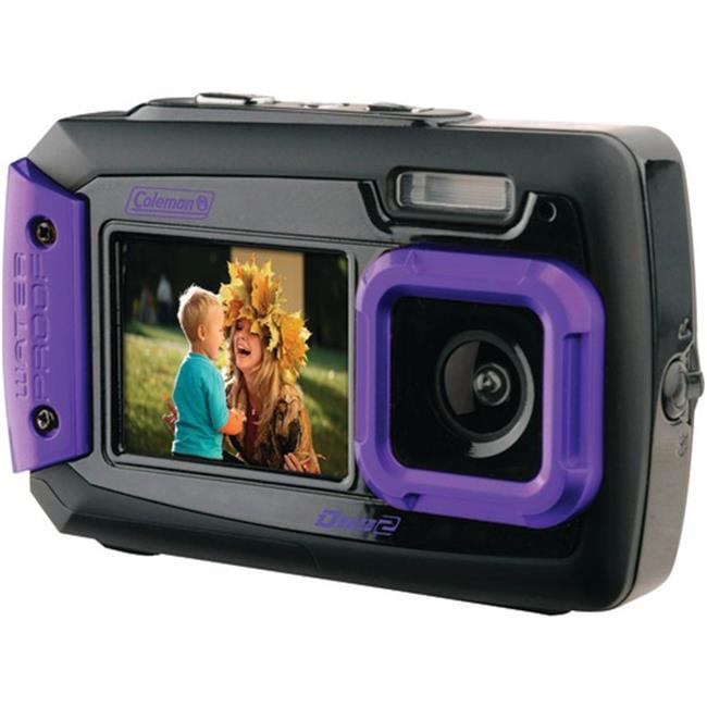 Elb2V9Wpp  20.0 Megapixel Duo2 Dual-Screen Waterproof Digital Camera (Purple) - image 1 de 1