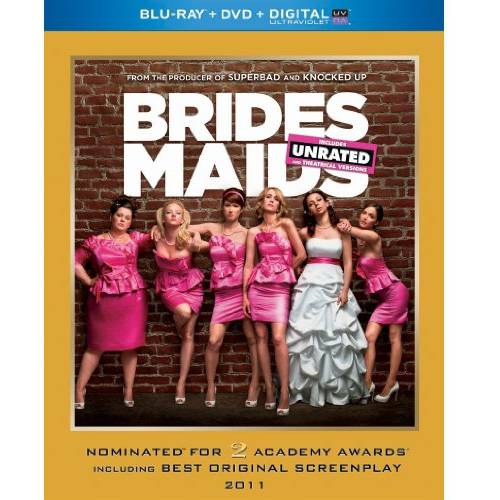 Bridesmaids (Unrated/Rated) (Blu-ray + DVD + HD Digital Copy) (With INSTAWATCH)
