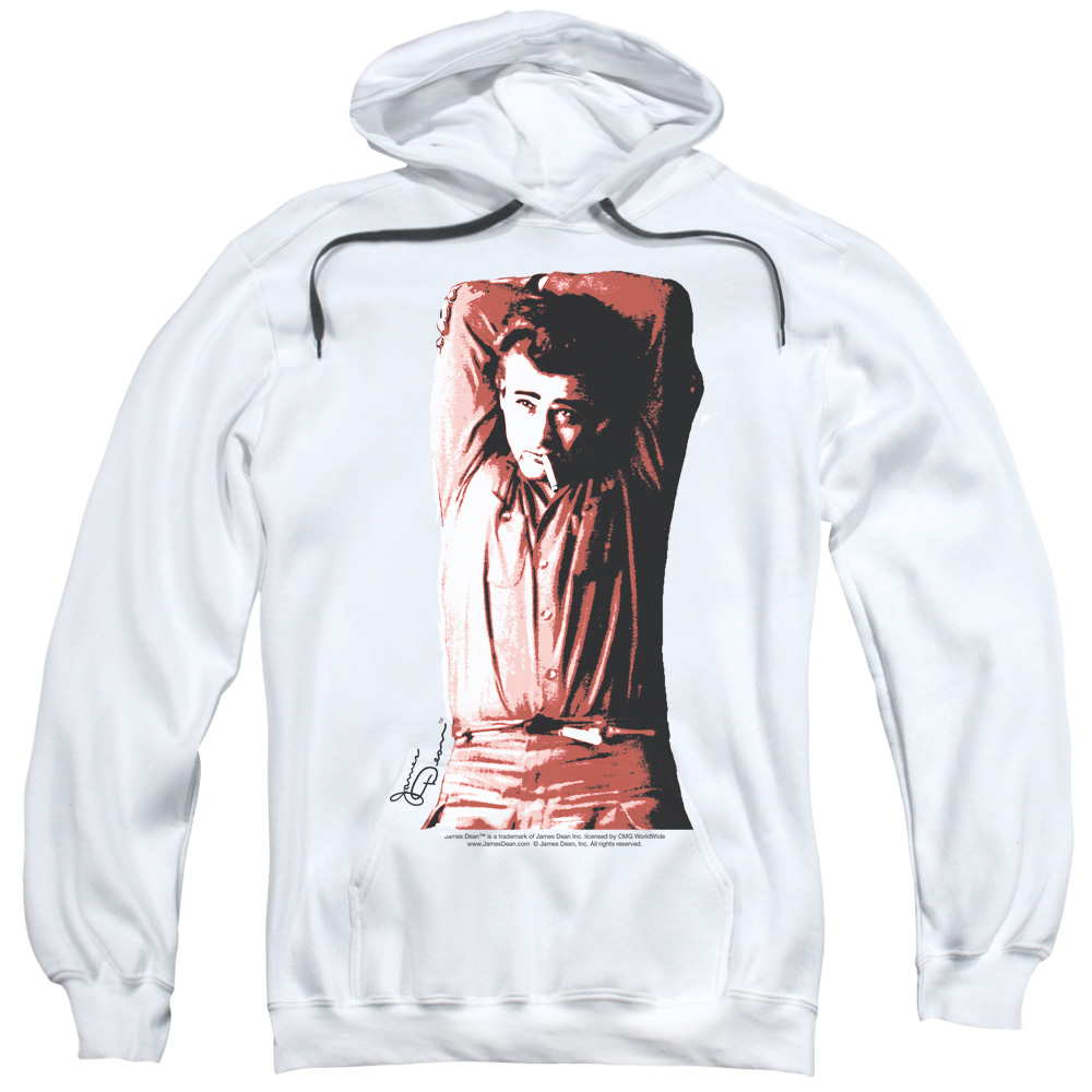 DEAN/CROSSED-ADULT PULL-OVER HOODIE-WHITE-MD