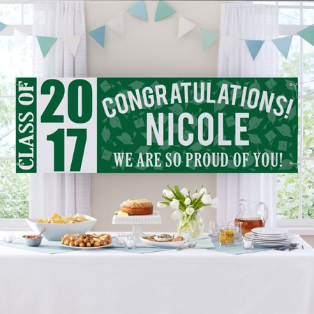 Personalized Best in Class Graduation Banner, Available in 7 Colors
