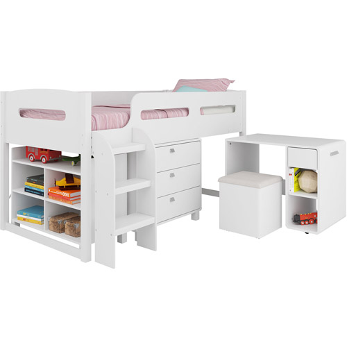 CorLiving Madison 5-Piece All-in-One Twin Wood Loft Bed