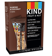 KIND Bars, Almond & Coconut, Gluten Free, 1.4 oz, 4 Ct