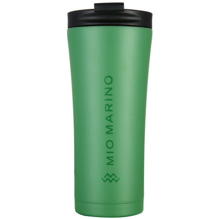 Mio Marino Thermal Coffee Travel Mug Stainless Steel - Leak Proof Vacuum Insulated Tumbler - BPA Free - 16 Ounce - Gift Box