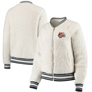 Cincinnati Bengals New Era Women's Athletic Sherpa Full-Zip Jacket - Cream