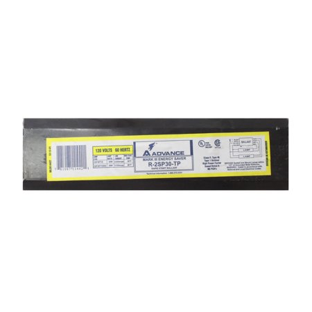 Advance R-2SP30-TP Magnetic Mark III Ballast, 2 Lamp, F30T12, 30W T12, 120V Lamp F40t12 Magnetic Ballast