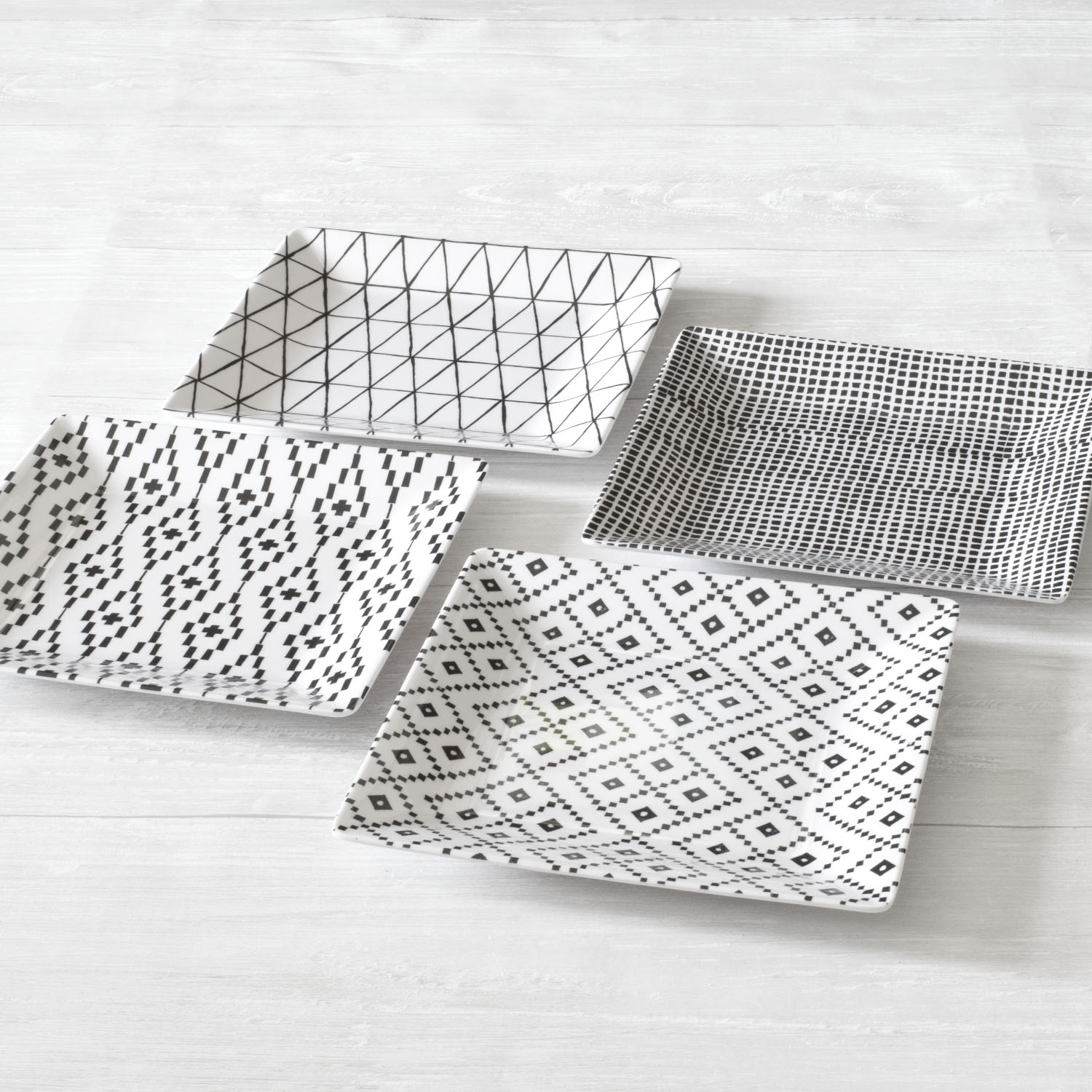Better Homes & Gardens Neutralis 4 Pack Assorted Melamine Salad Plates