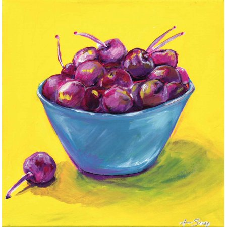 Bing Cherries Stretched Canvas - Anne Seay (24 x