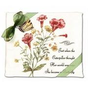 Alices Cottage AC34408 Yellow Swallowtail Flour Sack Towel-set of 2