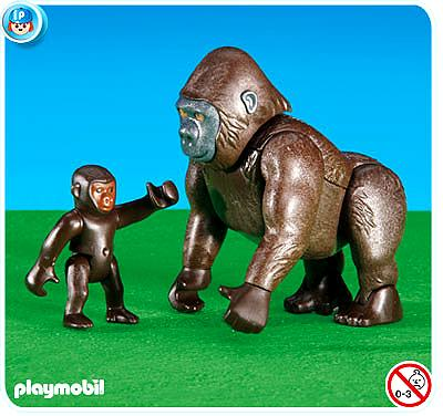 Zoo Gorilla with Baby Set Playmobil 6201
