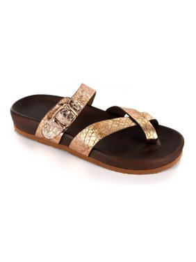 3bc7f8127 Product Image Corkys Women s Santa Ana Strappy Slip On Sandals Gold Snake