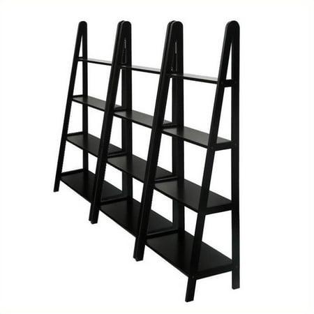 Winsome 4 Tier Wall Bookcase Unit in Espresso Beechwood Beauty 4 Piece Wall Unit