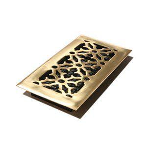 AG Gothic Solid Brass Floor Register (8-pack)