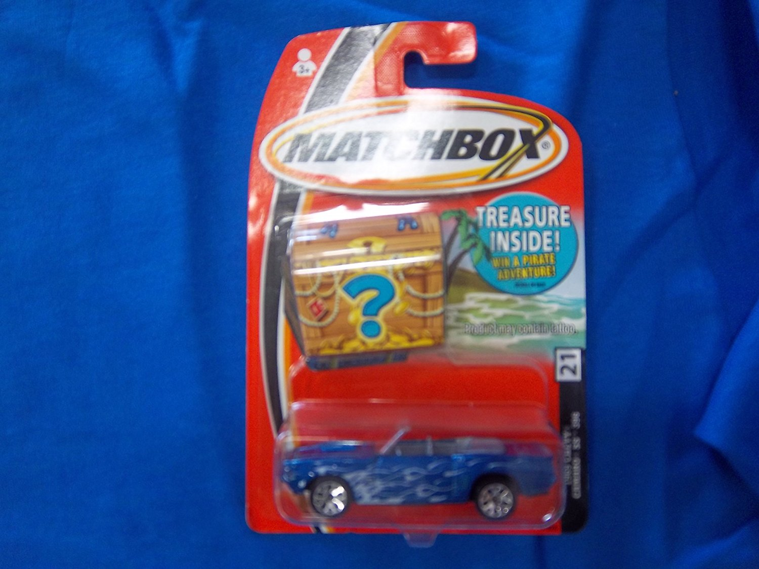 2004 69 Camaro SS 396 Blue Treasure Card #21, Matchbox By Matchbox by