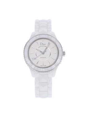 Christian Dior VIII Steel White Ceramic Silver Dial Automatic Watch CD1245E3C001