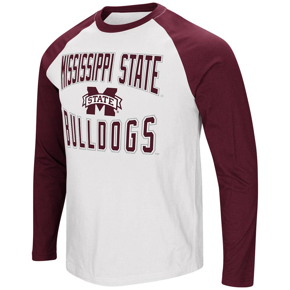"Mississippi State Bulldogs Colosseum ""Cajun"" Style Raglan LS T-Shirt"