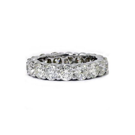 Unique Huge 5.00Ct Round Diamond Eternity Ring Wedding Band 14k White - Diamond Simulant Eternity Band