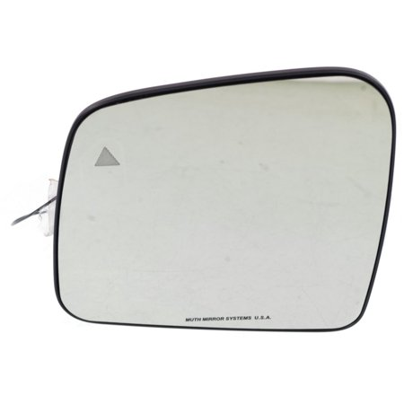 Kool Vue Mirror Glass - JP02GL - Driver Side, With Blind Spot Detection in Glass (Universal Blind Spot Detection)
