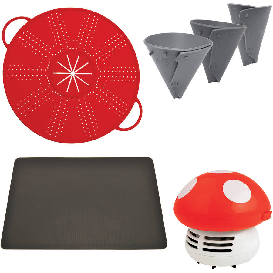 Starfrit 093605-006-0000 Dual Silicone Splatter /& Mixer Guard Red